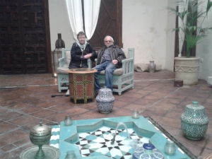 Bruce and Beverly enjoying Arab ancient Baths